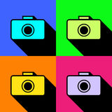 Vector camera flat icon Stock Images