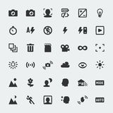 Vector camera functions mini icons set Royalty Free Stock Photography