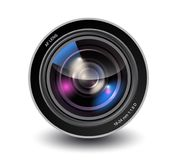 Vector camera lens Stock Photos