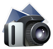 Vector camera and photos XXL icon Stock Photos