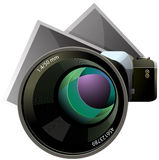 Vector camera and photos XXL icon Royalty Free Stock Photography
