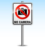 Vector camera sign Stock Images