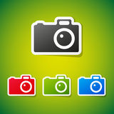 Vector camera stickers Stock Photography