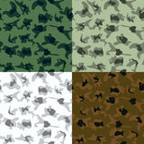 Vector Camouflage in 6 Colors - Illustration Stock Images