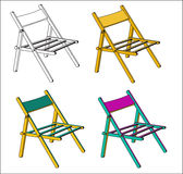 Vector camp chair Royalty Free Stock Photography