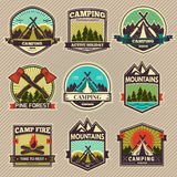 Vector camp label Royalty Free Stock Photos