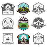 Vector camp label royalty free illustration