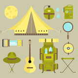 Vector camping icons Royalty Free Stock Photo