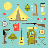 Vector camping icons Stock Photo