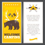 Vector camping invitation Royalty Free Stock Photo