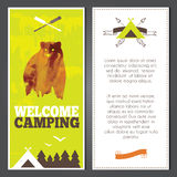 Vector camping invitation Royalty Free Stock Images