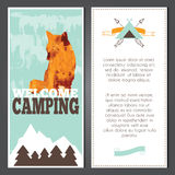 Vector camping invitation Stock Photography