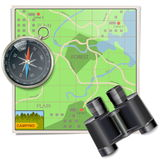 Vector Camping Map Stock Photos