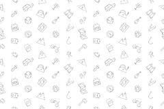 Vector Camping pattern. Camping seamless background. Vector illustration Royalty Free Stock Photo