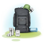 Vector camping stuff Royalty Free Stock Photography