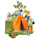 Vector Camping Tent Stock Photo
