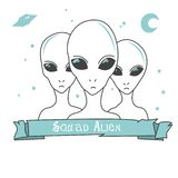design of alien squad characters royalty free illustration