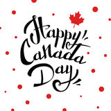 VECTOR Canada Day. Happy Canada Day  Illustration. 1st July celebration poster with sign on white background Stock Images