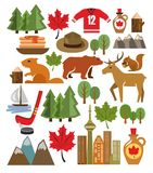 Vector Canada Icon Set Stock Images