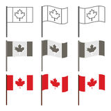 Vector Canadian flag icon set Royalty Free Stock Photo