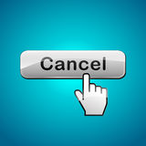 Vector cancel click button Royalty Free Stock Photos