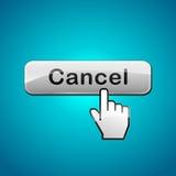Vector cancel click button vector illustration