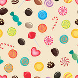 Vector candies texture, lollipop Royalty Free Stock Images