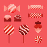 Vector candies for Valentine's Day Royalty Free Stock Photo
