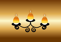Vector Candle Royalty Free Stock Photo