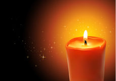 Vector candle Royalty Free Stock Images