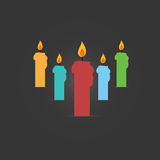 Vector of candle colourful Royalty Free Stock Photo