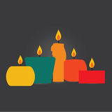 Vector of candle for design work. Royalty Free Stock Image