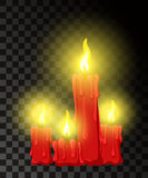 Vector candle with fire animation on transparent background. Flame animated effect illustration Web site page and mobile app desig. N  element Stock Photos