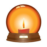Vector candle globe Stock Image