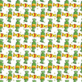 Vector Candy and Lollipop Seamless Pattern Stock Photo