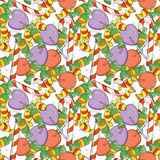 Vector Candy and Lollipop Seamless Pattern Royalty Free Stock Photography