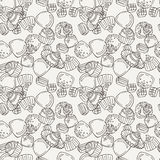 Vector Candy and Lollipop Seamless Pattern. Sweet Party Texture. Stock Image
