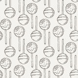 Vector Candy and Lollipop Seamless Pattern. Sweet Party Texture. Royalty Free Stock Photography