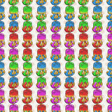 Vector Candy and Lollipop Seamless Pattern. Sweet Party Texture. Stock Photos