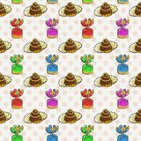 Vector Candy and Lollipop Seamless Pattern. Sweet Party Texture. Stock Photo