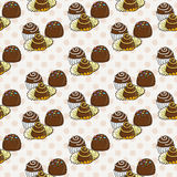 Vector Candy and Lollipop Seamless Pattern. Sweet Party Texture. Royalty Free Stock Images