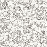 Vector Candy and Lollipop Seamless Pattern. Sweet Party Texture. Stock Photography