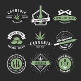 Vector cannabis badges Stock Image