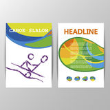 Vector Canoe slalom sport brochure template poster cover design Royalty Free Stock Image