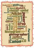 Vector Canon vs Nikon photography stock images
