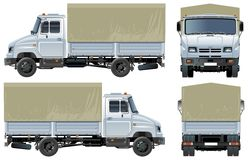 Vector canopy delivery / cargo truck. Vector illustration canopy delivery/cargo truck  [ for branding ]. Available AI-10 separated by layers and groups for easy Royalty Free Stock Images