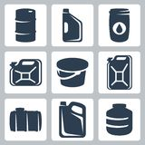 Vector cans and barrels icons Stock Image