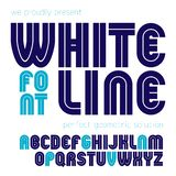 Vector capital bold English alphabet letters made with white lines. Vector capital bold English alphabet letters made with white lines, best for use in royalty free illustration