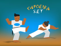 Vector capoeira set Royalty Free Stock Photos