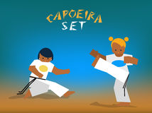 Vector capoeira set Royalty Free Stock Image